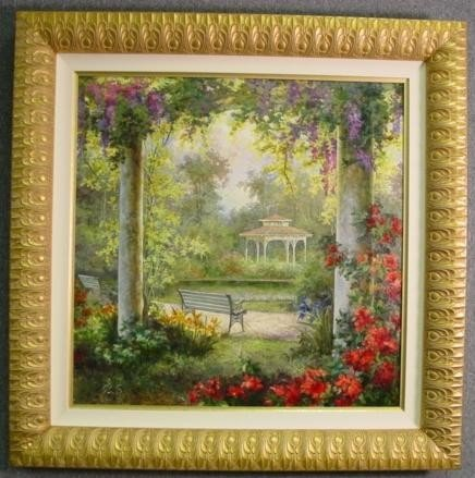 36 x36 Original Landscape Oil Painting by Pena
