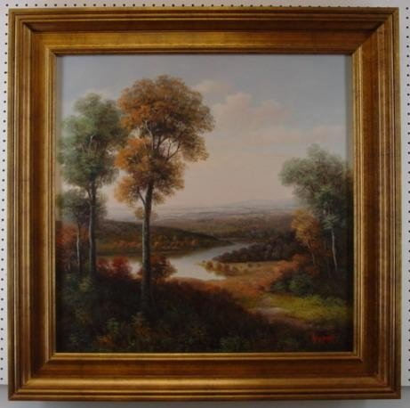 30 x30 Original Landscape Oil Painting By Humphrey