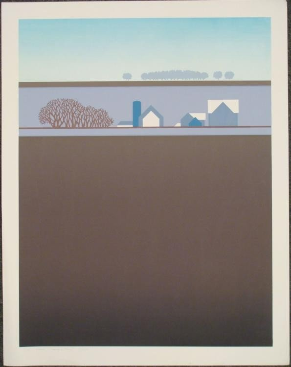 Steve Horan Signed Rural Art Print Hanson Farm 1974