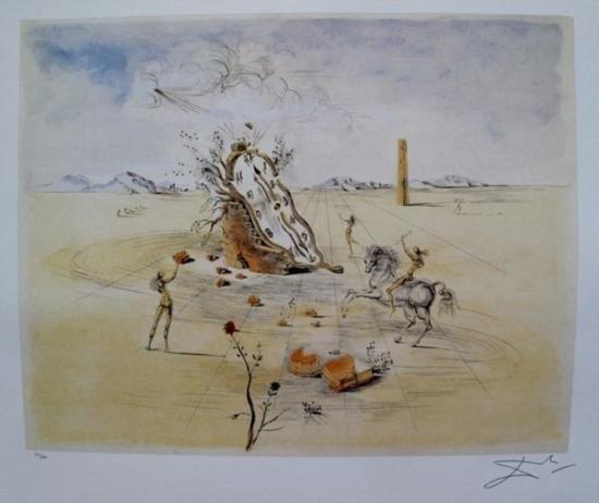 Salvador Dali COSMIC HORSEMAN Limited Edition Lithograp