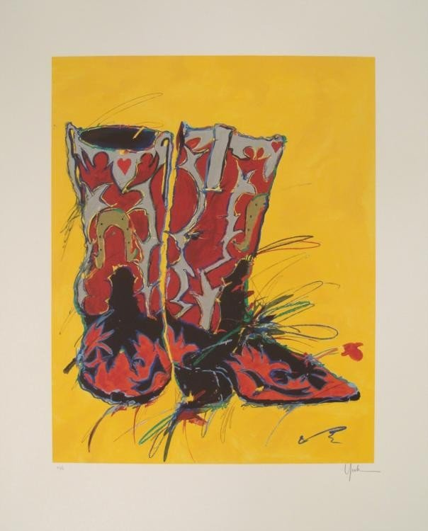 Kim Yoakum Signed Ltd Ed Boots Art Print I'm On My Way