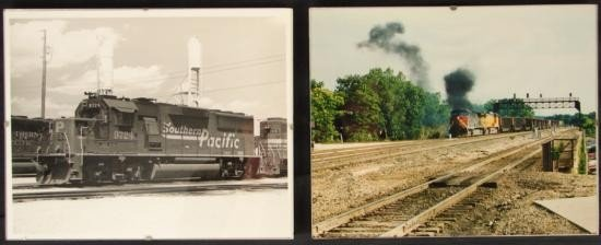 2 PHOTOGRAPHS Trains VINTAGE SOUTHERN PACIFIC Railroad