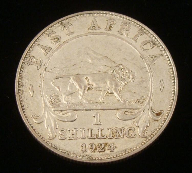 East Africa High Grade 1924 One Shilling Coin