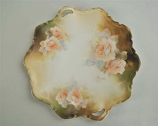 R.S. Prussia Handled Plate