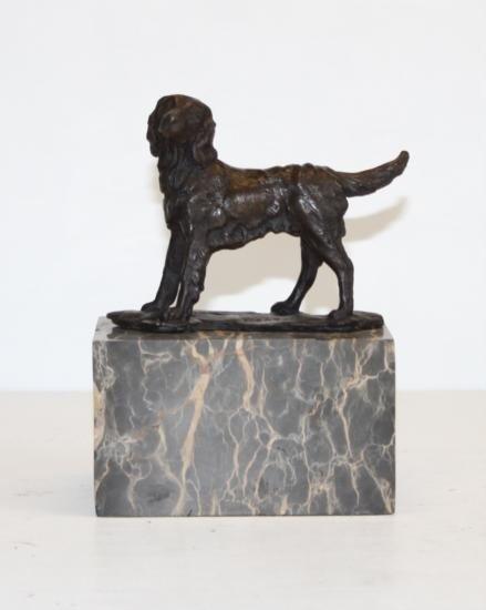 Gorgeous Retriever Bronze Sculpture After L. Carvin