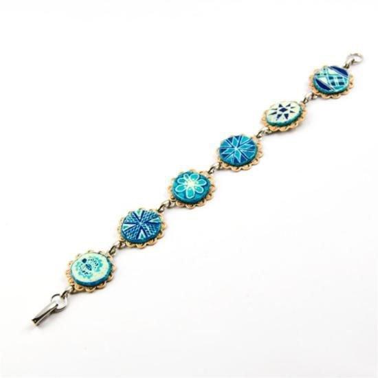 Vintage Style Pysanky Bracelet