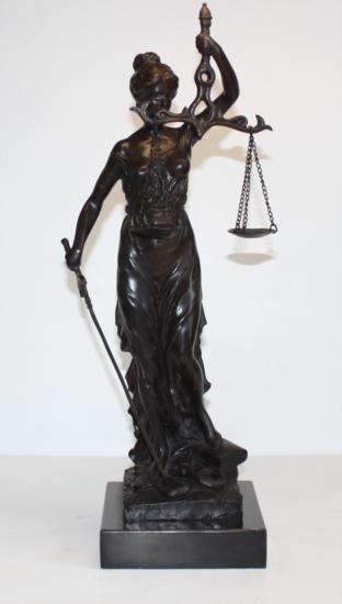 Noble Bronze Sculpture Lady Justice