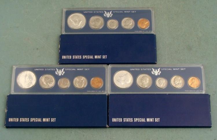 3 1966 Special U.S. Mint Sets