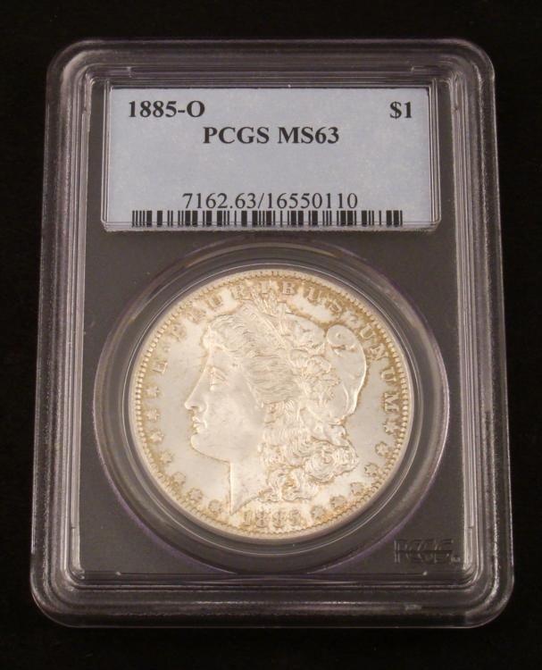 1885-O Morgan Silver Dollar PCGS MS-63