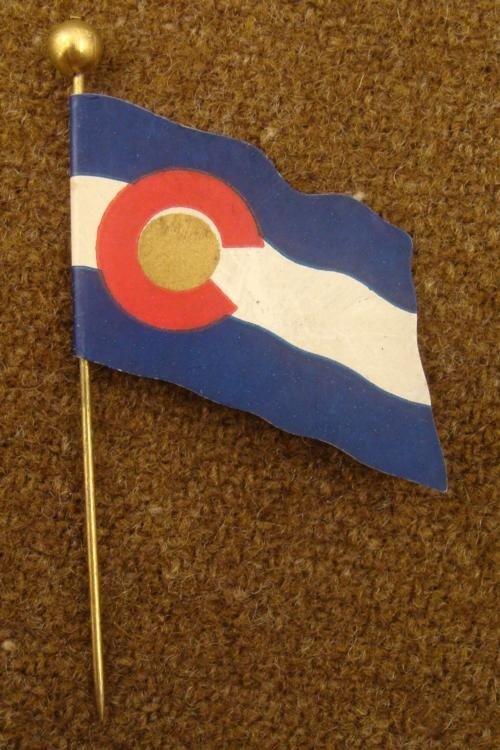 "1915 MASONIC FLAG LAPEL PIN-""GRAND CHAPTER ROYAL ARCH"