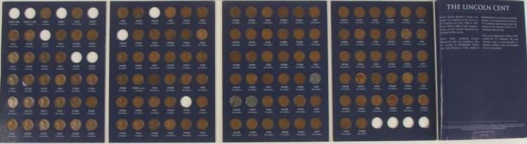 1909-58 Lincoln Wheat Cent 110 Coins Set w/Key Dates