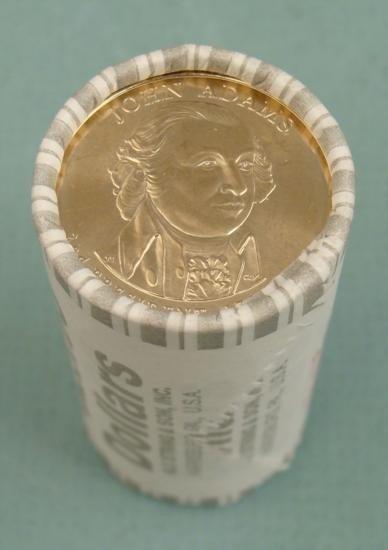 1 Roll of Gem UNC Rolls John Adams Pres Dollars 2007 D