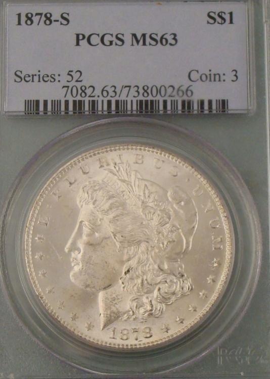 1878-S PCGS MS 63 Morgan Silver Dollar