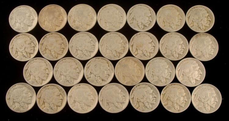 27 Diff Date Buffalo Nickels - Sharp Starter Set