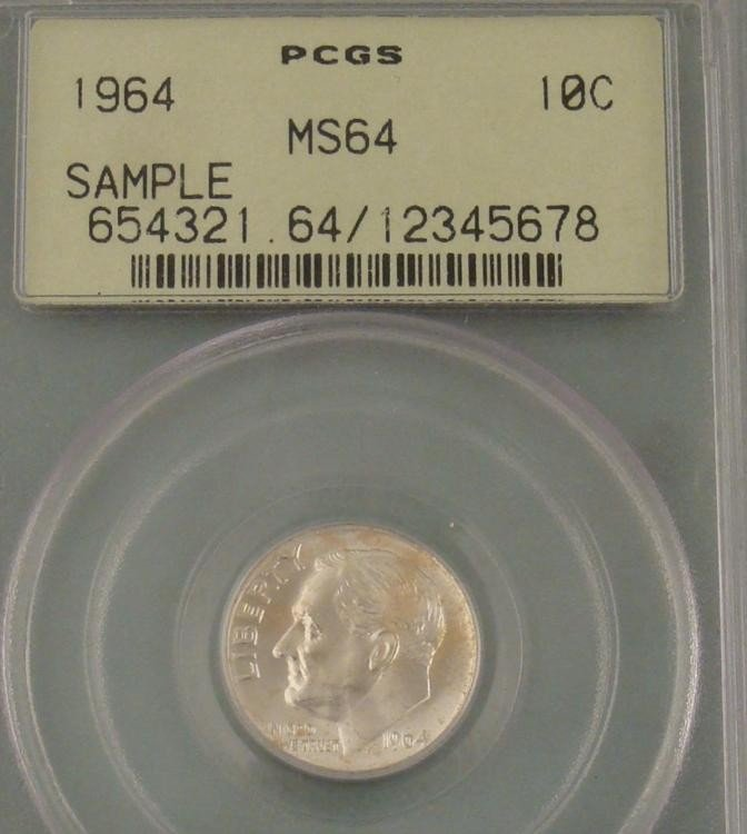 1964 Roosevelt Silver Dime Certified MS 64