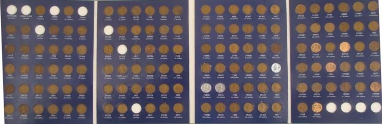 Complete Lincoln Wheat Cent Set 131 Coins 1909-1958