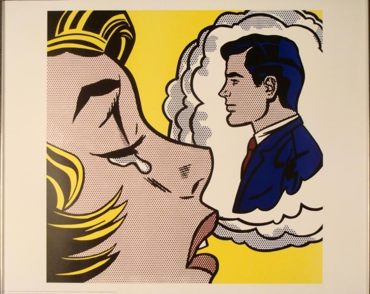 Roy Lichtenstein : Thinking of Him Art Print