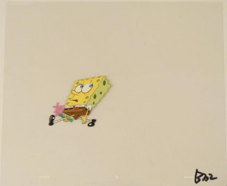Art Cel My Cue to Exit Spongebob Original Production