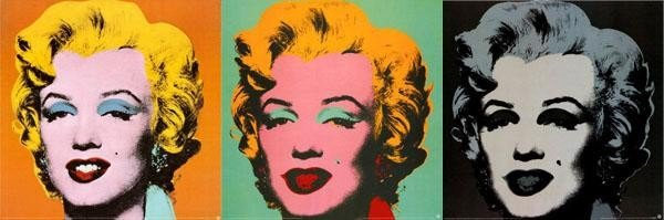 3 Different Color Andy Warhol Marilyn Monroe Art Prints