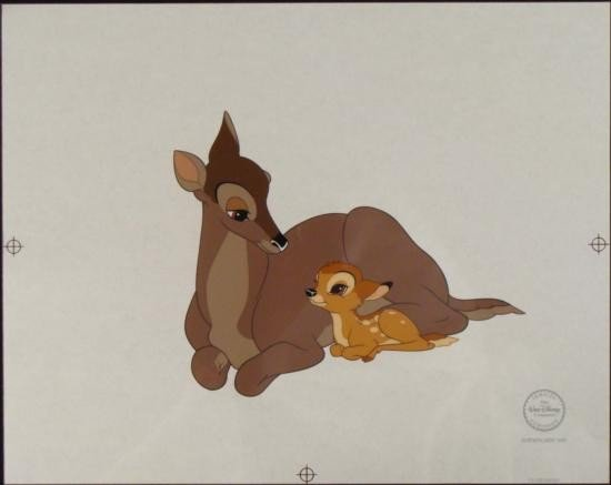 Bambi Deer to My Heart Walt Disney Sericel Art