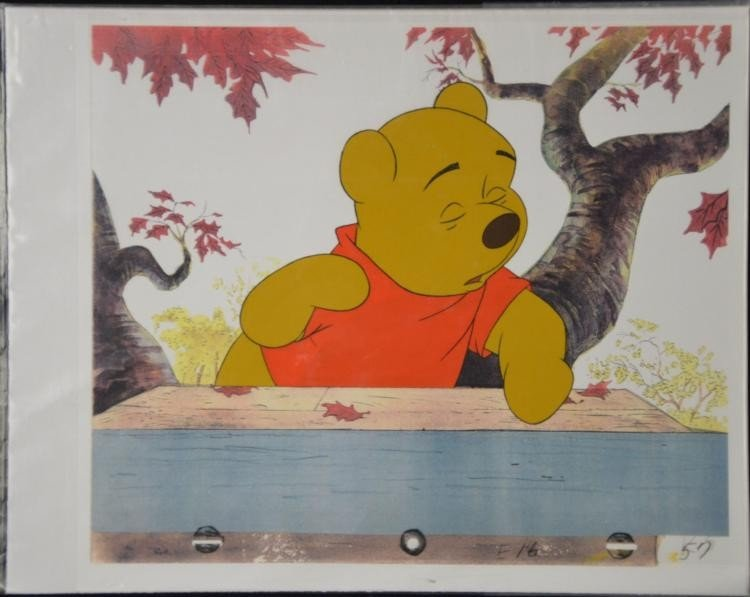 Winnie the Pooh Original Production Cel & Model Drawing