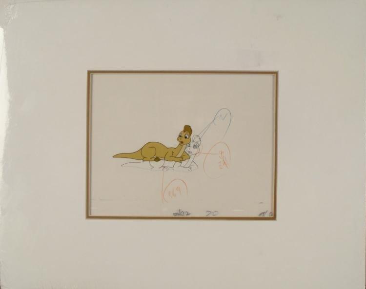 Dink the Dinosaur Original Production Drawing & Cel
