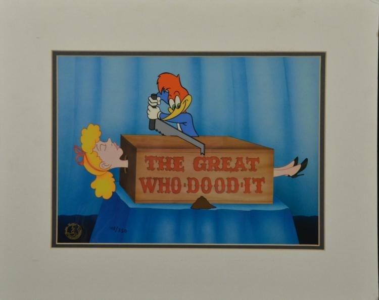 Woody Woodpecker Great Who Dood It Ltd Ed Animation Cel