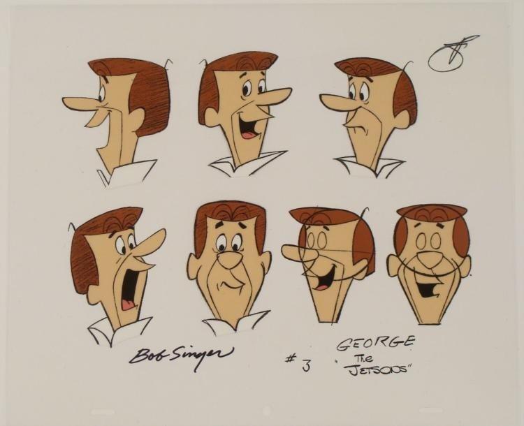 George Jetson Signed Original Model Cel Animation Art