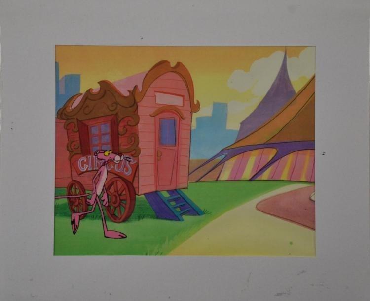 Pink Panther Circus Original Production Cel & Drawing