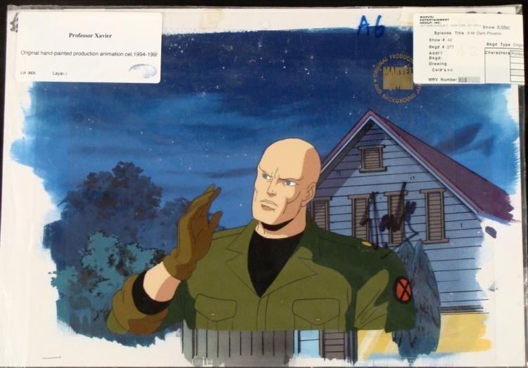 Stan Lee Signed Cel Animation Background X-Men Orig