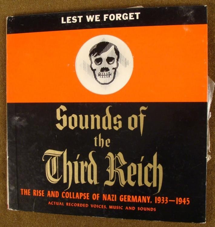 1950'S 2 RECORD SET-SOUNDS OF THE 3RD REICH W/ HITLER