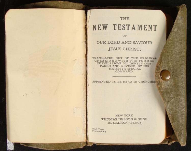 U.S. GI FIELD NEW TESTAMENT RELIGIOUS BOOK BIBLE