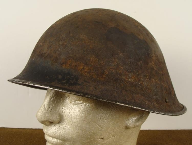 WWII DANISH(?) COMBAT HELMET SHELL