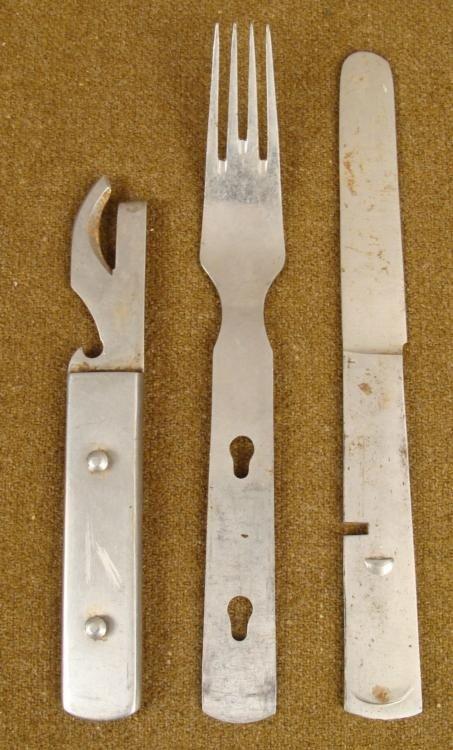 NAZI LUFTWAFFE FULL 3 PC FIELD MESS KNIFE FORK SPOON 41