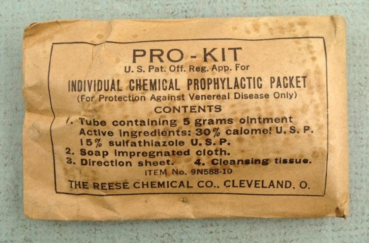 RARE WWI DOUGHBOY PROPHYLACTIC KIT BY REESE CHEMICAL CO