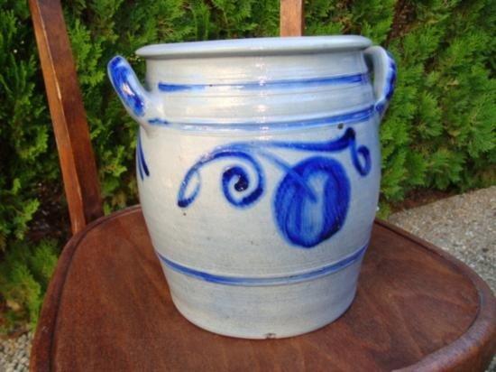 French Alsatian stoneware crock cir 1880