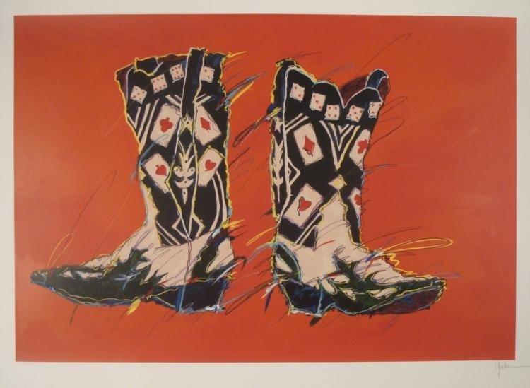 Kim Yoakum Signed Ltd Ed Cowboy Art Print The Gambler