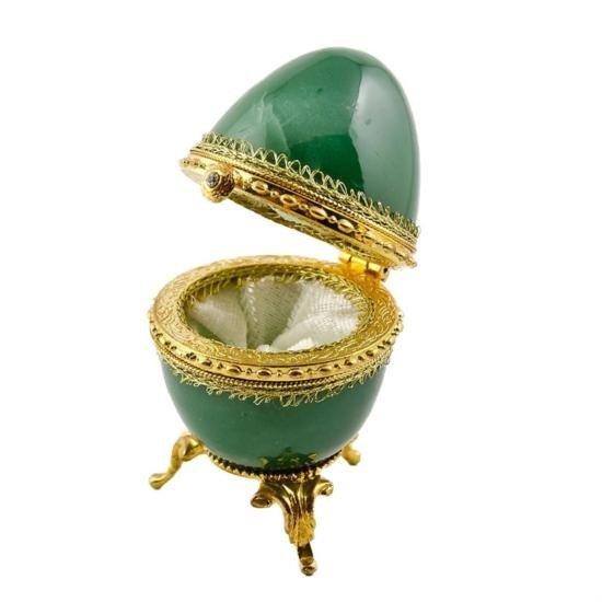 Aventurine Faberge Style Egg