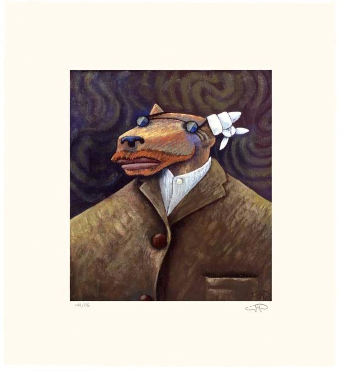 Markus Pierson 'COYOTE PORTRAIT OF VAN GOGH' Paper