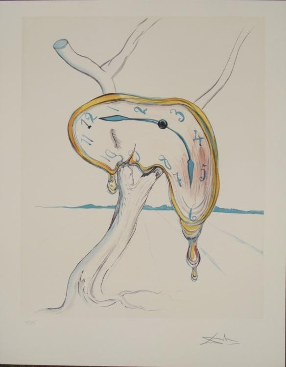 Salvador Dali : Tearful Soft Watch Melting Art Print