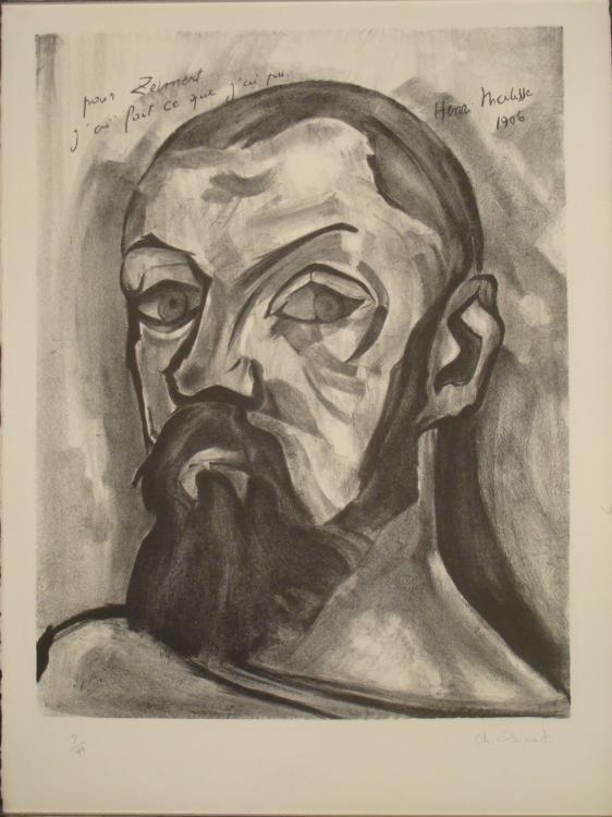 Christian Zeimert Signed Art Print Portrait of Matisse