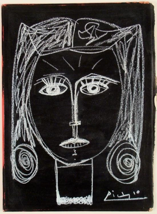 Pablo Picasso Original Drawing Signed In Book 1954