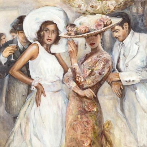 Marysia Burr BISTRO GARDEN Deluxe Art Print on Canvas