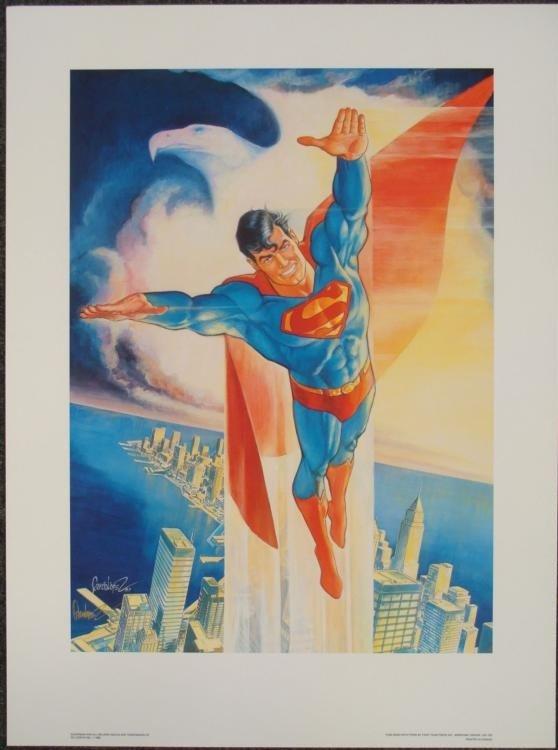 Signed Superman Garcia Lopez Print Man of Steel