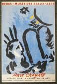 Original Chagall 1960 Beaux-Arts Exhibit Poster MOISE