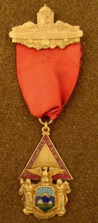 1915 KNIGHTS TEMPLAR MEDAL-GRAND CHAPTER OF NEW YORK