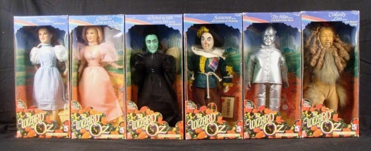 6 Wizard of Oz Yellow Brick Road Dolls Collection MIB