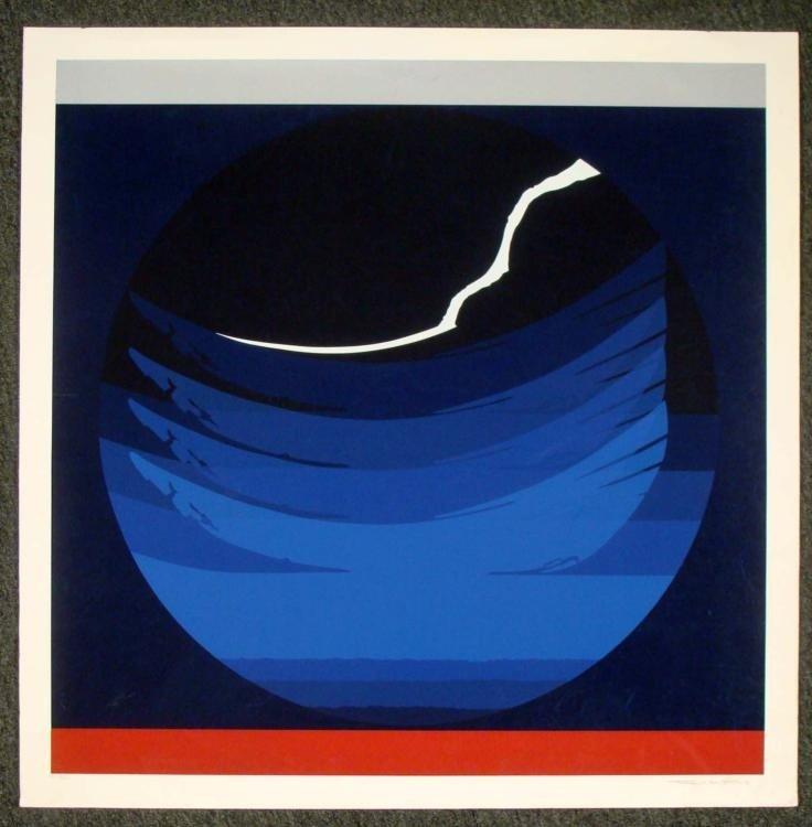 Thomas J. Benton Signed Large Planet Sphere Art Print