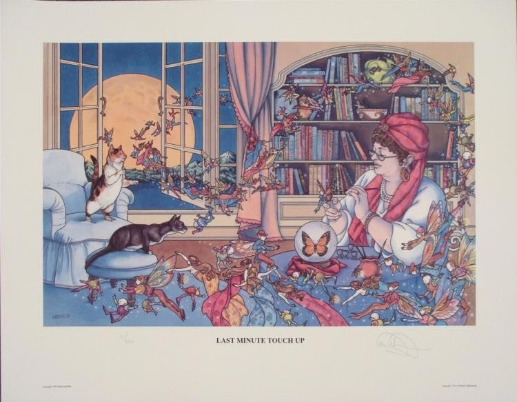 Last Minute Touch Up  Alicia Austin Signed Faery Print