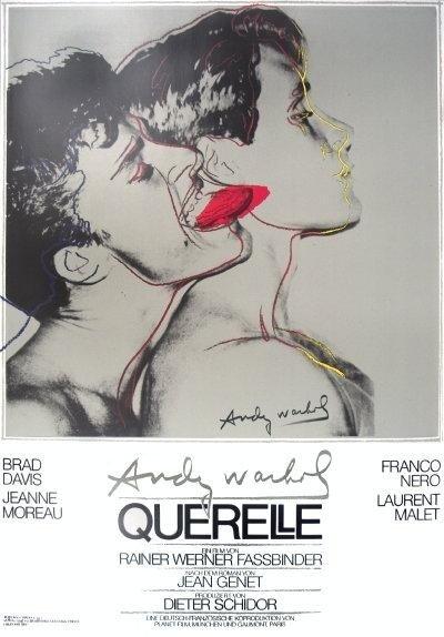 Andy Warhol : Querelle (Grey) Art Print